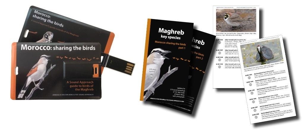 The USB and 'Maghreb key species' booklet accompanying the book.